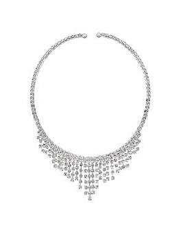 Mood Silver diamante choker necklace