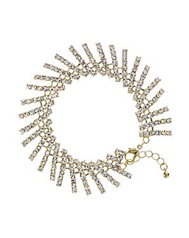 Mood Gold crystal stick bracelet