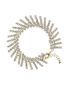 Mood Gold crystal stick bracelet