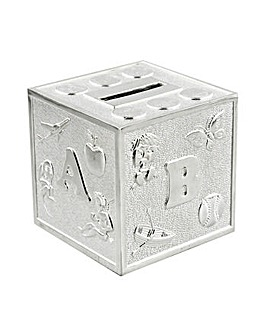 Bambino Alphabet Cube Money Box