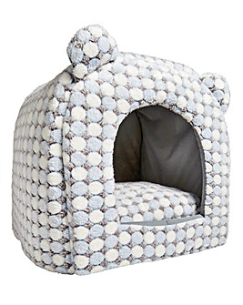 Luxury Snowflake Snuggle Cat Bed