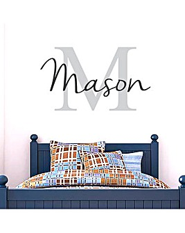 Personalised Name & Initial Wall Sticker