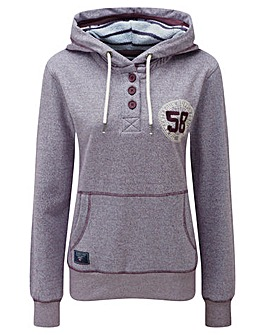 Tog24 Orford Womens Button Neck Hoodie