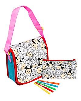 Disney Tsum Tsum 2pk Colour Your Own Bag