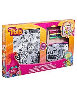 Trolls 2pk Colour Your Own Bags Set