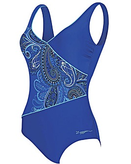 Zoggs Boho Jet Set Wrap Front Swimsuit