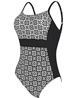 Zoggs Nouveau Deco Side Panel Swimsuit