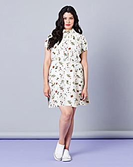 Simply Be Floral Print Tea Dress