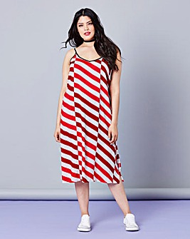 Simply Be Stripe Cami Dress