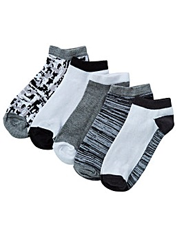 5 Pack Geo Trainer Socks
