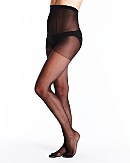 5Pk 15 Denier Gusset Free Black Tights