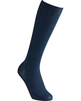 Extra Roomy Cotton Knee High Socks