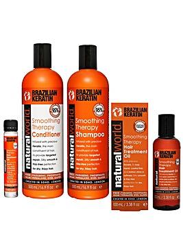 Natural World Keratin Hair Care Set