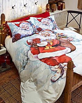 Father Christmas Printed Duvet Cover Set