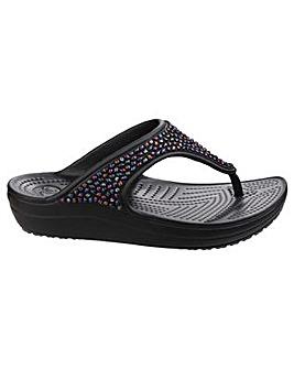 Crocs Sloane Embelluished Flip-Flop