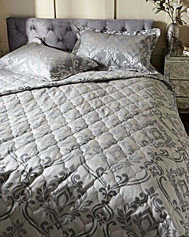 Baroque Jacquard Silver Throw
