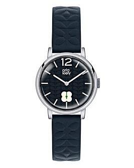 Orla Kiely Ladies Navy Strap Watch