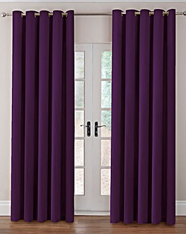 Velour Eyelet Curtains