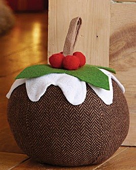 Christmas Pudding Doorstop