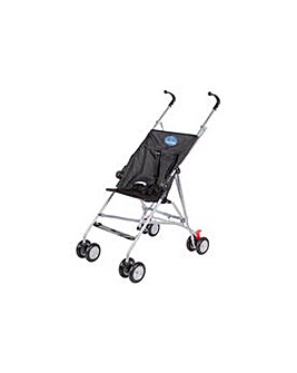 BabyStart Black 4 Wheeler Pushchair.