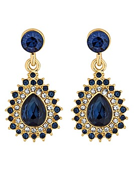 Alan Hannah crystal peardrop earring