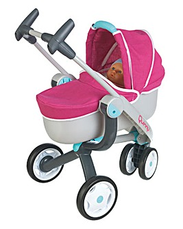 Smoby Quinny 3 Wheel Pushchair and Pram