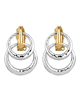 Jon Richard double hoop clip on earring