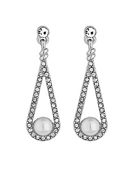Jon Richard pearl teardrop earring