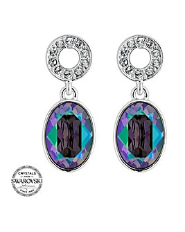 Jon Richard swarovski oval earring