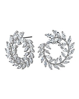 Jon Richard silver wreath earring