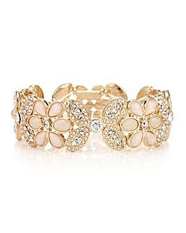 Mood tonal pink crystal bracelet