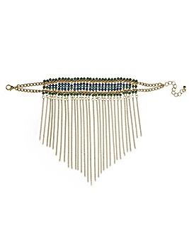 Mood beaded fringed bracelet