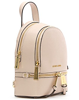 Michael Kors Pink Double Zip Backpack