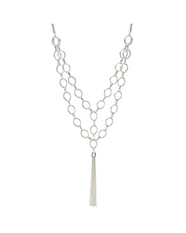 Mood chain link tassel necklace