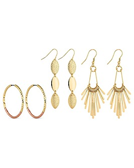 Mood gold mixed earring pack