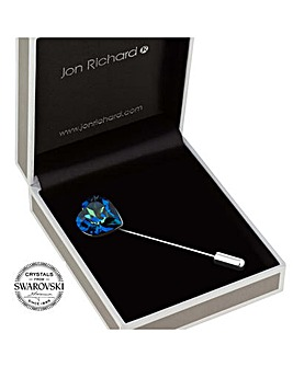 Jon Richard swarovski heart scarf pin
