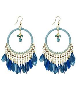 Mood feather hoop earring