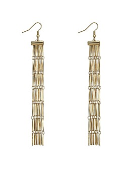 Mood gold chain fringe earring
