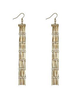 Mood gold chain fringe earring