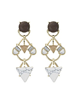 Mood howlite chandelier earring
