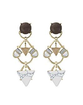 Mood howlite chandelier earring