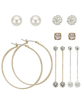 Mood multi tone earring set