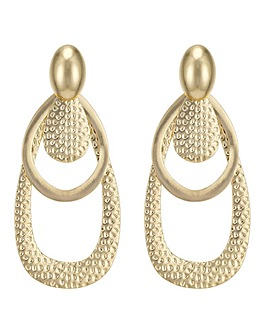Mood oversized hoop drop earring