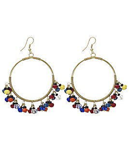 Mood beaded hoop earring