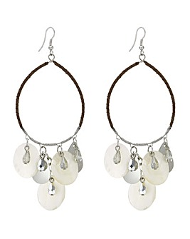 Mood shell hoop earring
