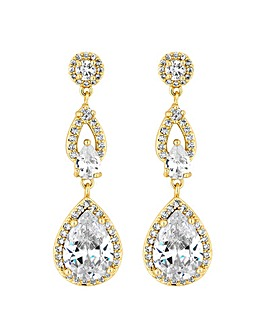 Jon Richard gold statement drop earring