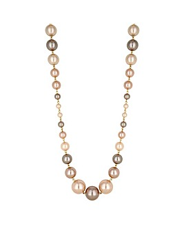 Jon Richard champagne pearl necklace