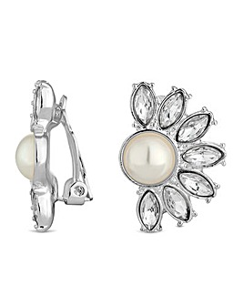 Jon Richard pearl fan clip on earring