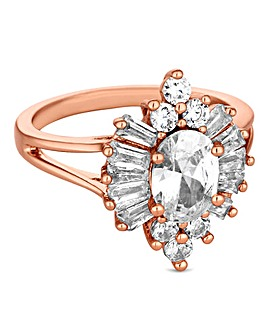 Jon Richard rose gold burst ring