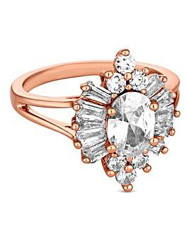 Jon Richard rose gold burst ring